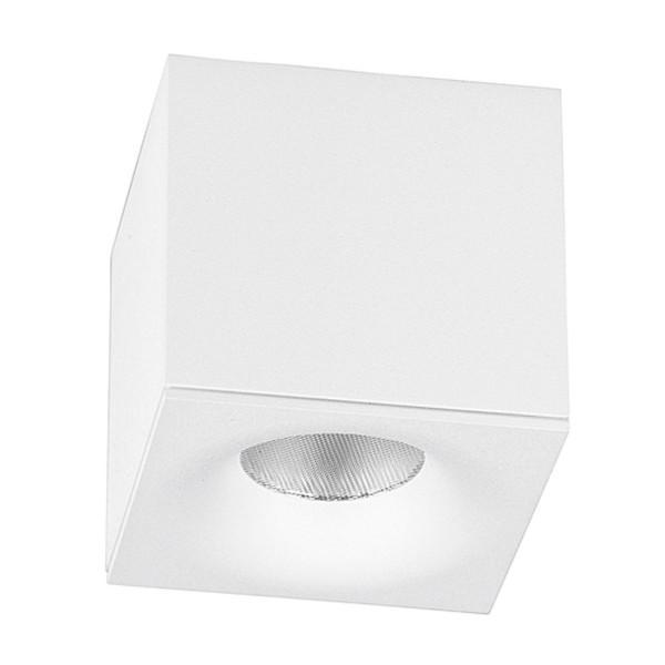 quadratischer LED Innen Deckenstrahler einflammig 10 cm