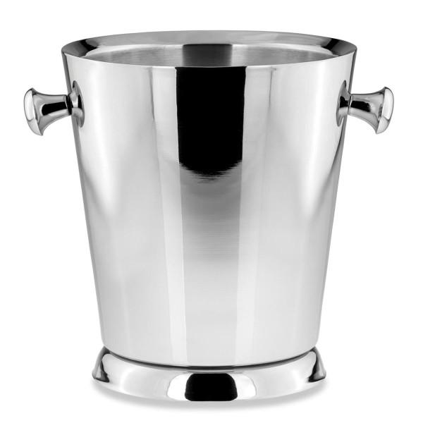 H.Bauer jun. Flaschenkühler 19 cm glatt poliert Höhe 22.5 cm - Art.-Nr. 797 runder Edelstahl