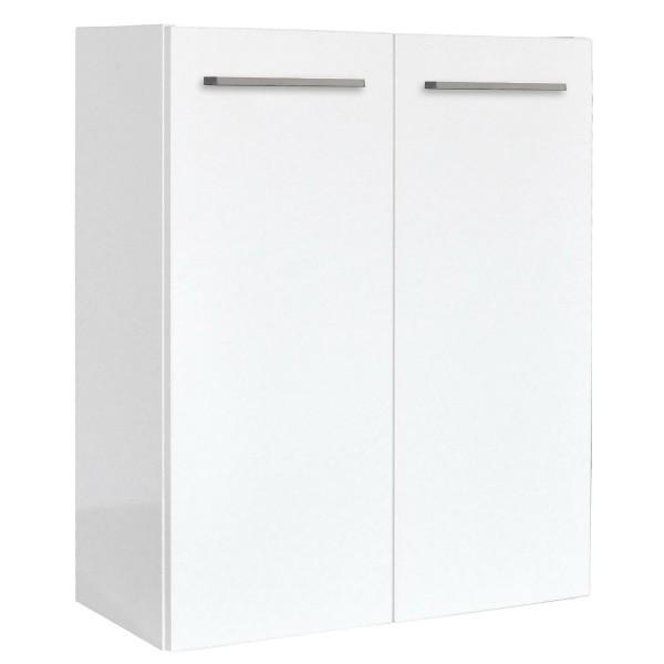 Fackelmann 73376 Waschbecken Unterschrank Gäste WC Rondo 55 cm weiß Hochglanz kleiner