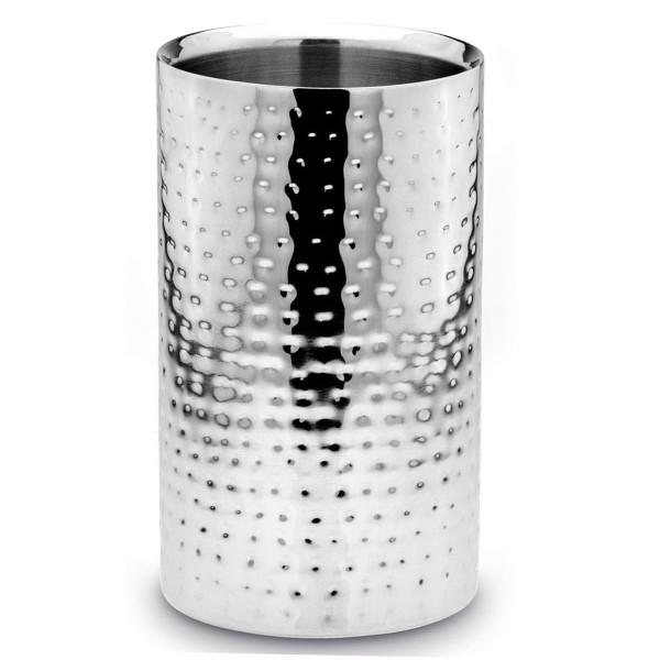 H.Bauer jun. Champagnerkühler 12 cm gehämmert Höhe 20 cm - Art.-Nr. 776 runder