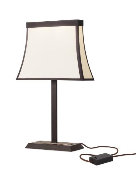 LED Tischleuchte Fancy dunkelbraun