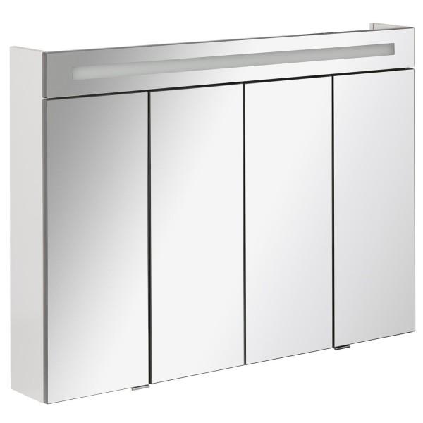 Fackelmann 80093 LED Spiegelschrank Twindy Stanford 110 cm weiß Glanz