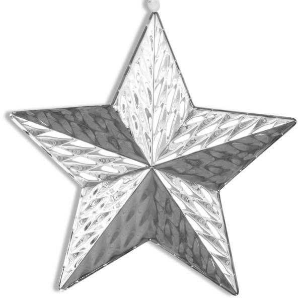 H.Bauer jun. Deko Anhänger x 4 cm 21 cm Diamantenoptik - Art.-Nr. 788 Edelstahl