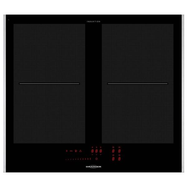 Oranier autarkes Einbau Flächeninduktionskochfeld 60 cm FLI 2064 SL Seitenleisten Edelstahl
