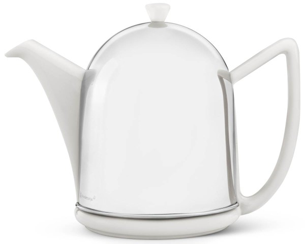 Bredemeijer Teekanne 1,5 L Cosy Manto cremeweiß Edelstahl & Keramik - Art.-Nr. 1515W