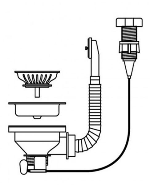 Pyramis Drehexcenter Siebkorbventil mit Überlauf