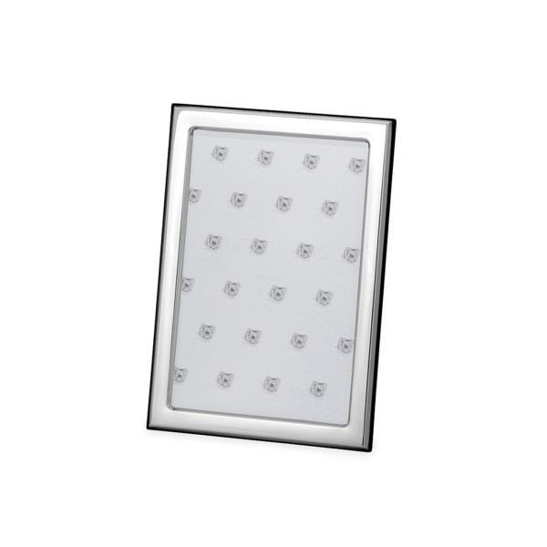 kleiner versilberter Fotorahmen 10 x 15 cm schmaler Rahmen glatt poliert - Art.-Nr. 30142ver