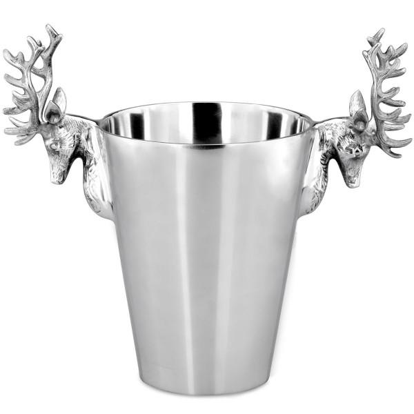 H.Bauer jun. Flaschenkühler 39 cm poliert Höhe 30 cm - Art.-Nr. 6225alu eleganter