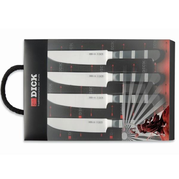 Dick hochwertiges 4 teiliges Steak Messerset mit geschmiedeter Klinge - Art.-Nr. 8198410