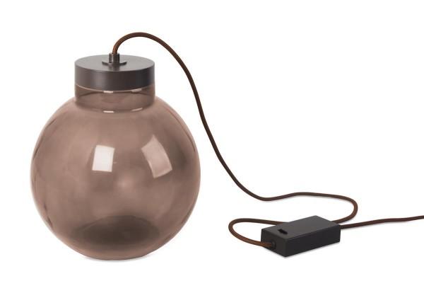 LED Tischleuchte Raw Ø 230 mm dunkelbraun