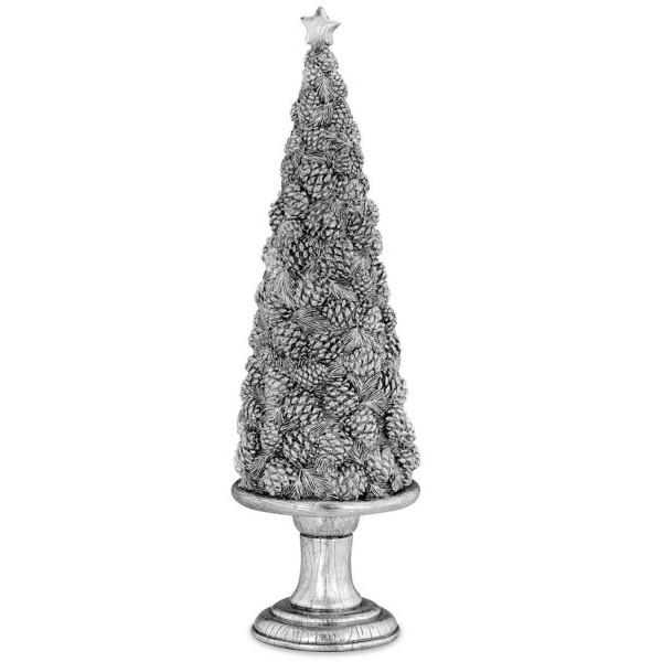 großer silberner Deko Weihnachtsbaum aus Kunststein 51.5 cm - Art.-Nr. 6338