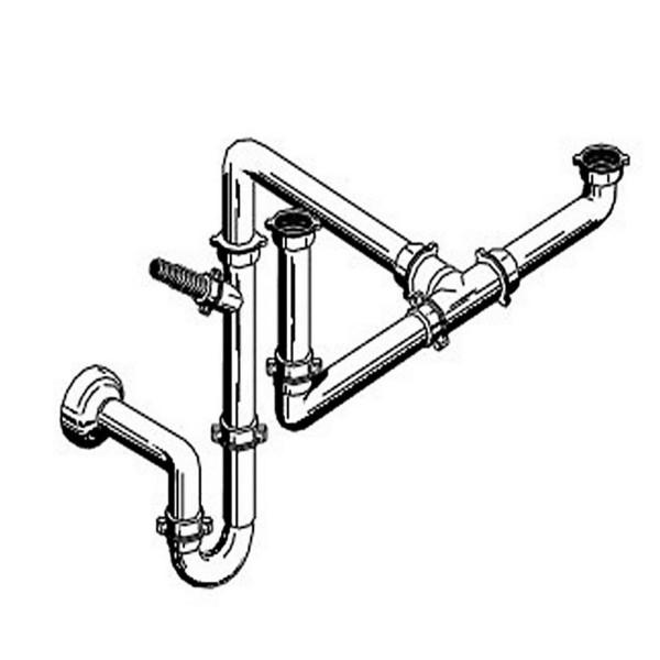 Pyramis Raumsparsifon für Spülen mit 1 1/2 Becken (für Spülen mit 1 1/2 Becken)