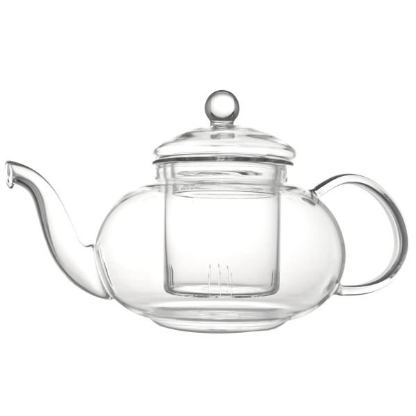 Bredemeijer einwandige bauchige Teekanne aus Glas mit Teefilter