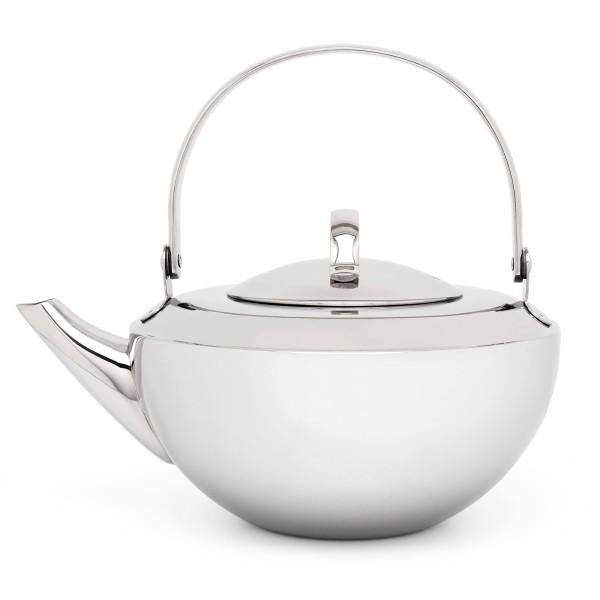 kleine glänzende einwandige Edelstahl Teekanne 0.8 Liter - Art.-Nr.171001