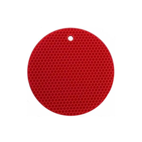 BAF kleiner runder Topfuntersetzer Ø 18.5 cm hitzebeständig aus Silikon rot - Art.-Nr. 802095090-r