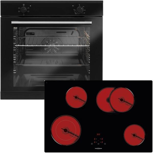 Oranier autarkes Einbau Backofen Set EBS 9911 mit Glaskeramikkochfeld 78 cm