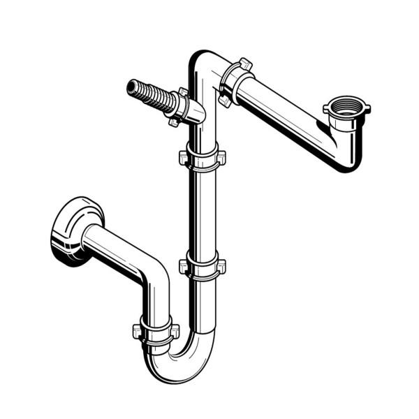 Pyramis Raumsparsifon für Spülen mit 1 Becken (für Spülen mit 1 Becken)