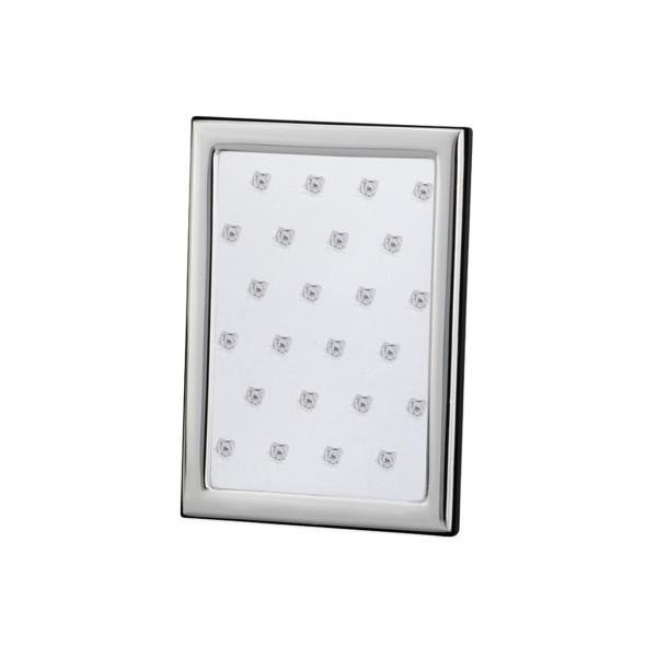 kleiner versilberter Fotorahmen 9 x 13 cm schmaler glatter Rahmen - Art.-Nr. 30144ver
