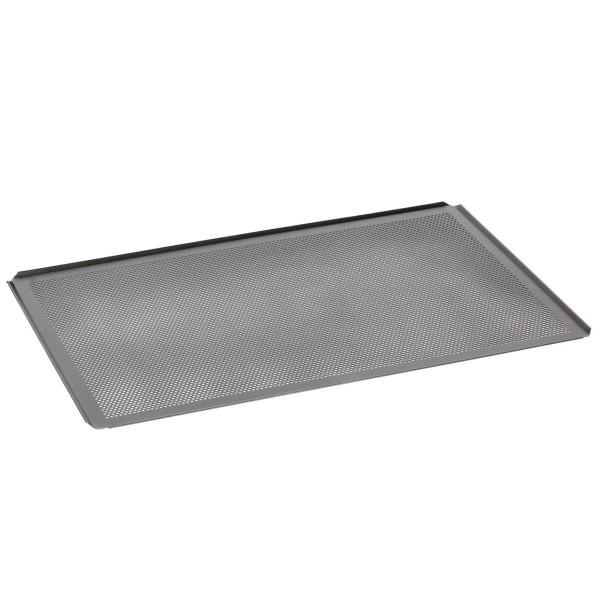 AMT Gastroguss Bäckernorm Backblech 6040 BBL-1 60 x 40 cm Höhe 0,15 cm gelocht - Art.-Nr. 6040-BBL-1