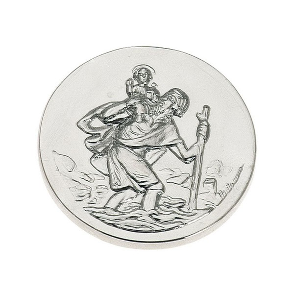 H.Bauer jun. Plakette 3 cm - Art.-Nr. 1790ver versilberte