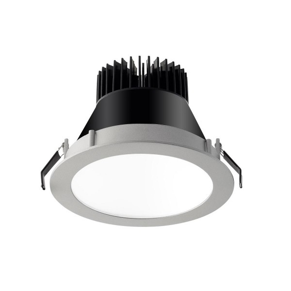 LED Einbauleuchte Equal S Ø 172 mm grau