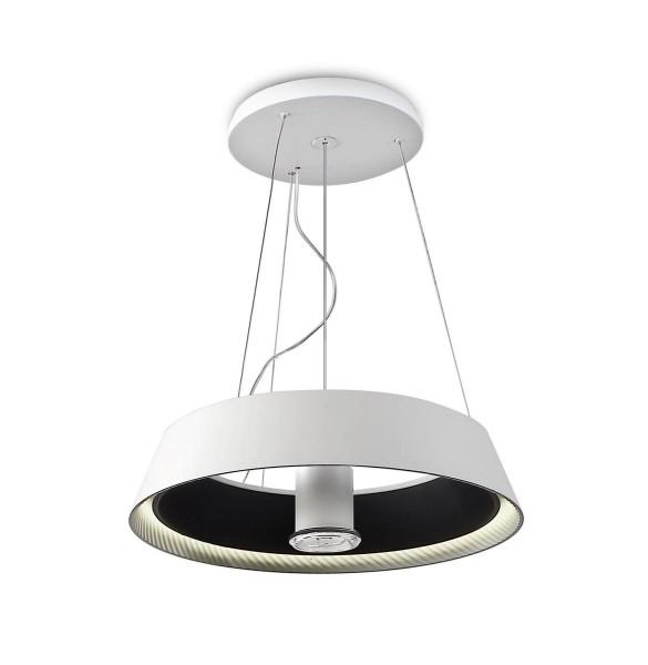 LED Pendelleuchte Ringofire Ø 600 mm matt weiss