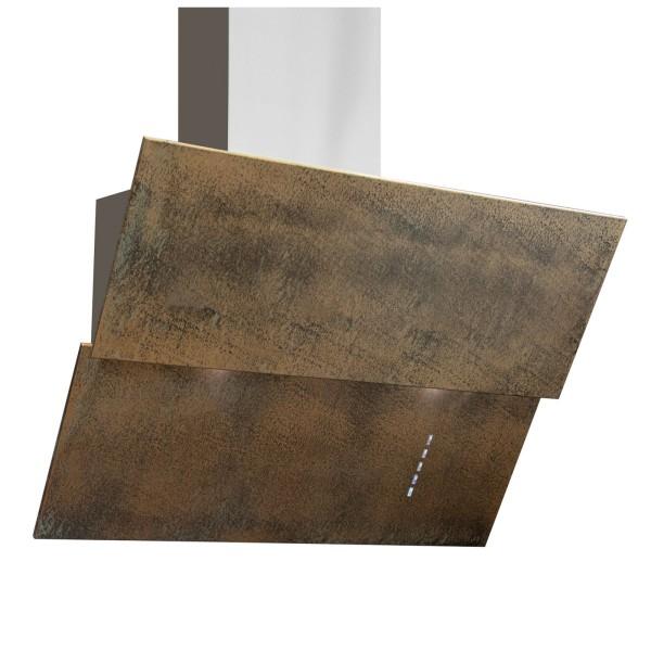 breite kopffreie Edelstahl Abluft Wandhaube 80 cm bronze