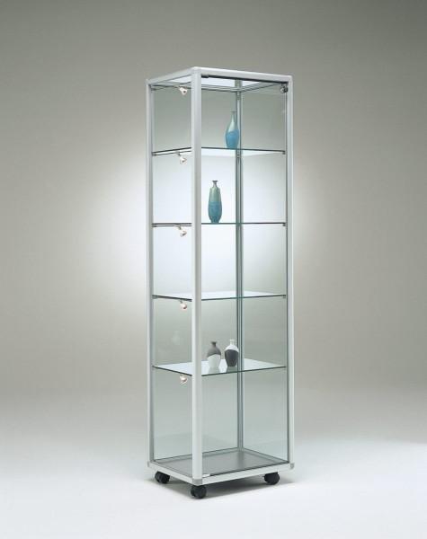 schmale moderne Glasvitrine Ausstellung abschließbar 50 x 40 cm - Art.-Nr. BV5242-ob-r-gr