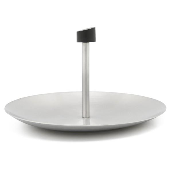 ovale silberne Edelstahl Konfekt Deko Schale 20 cm - Art.-Nr.8121070