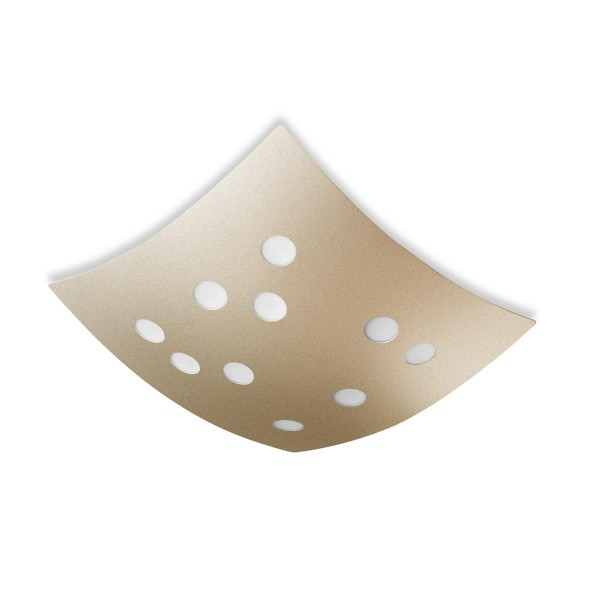 LED Deckenleuchte Wow Ø 380 mm gold lackiert