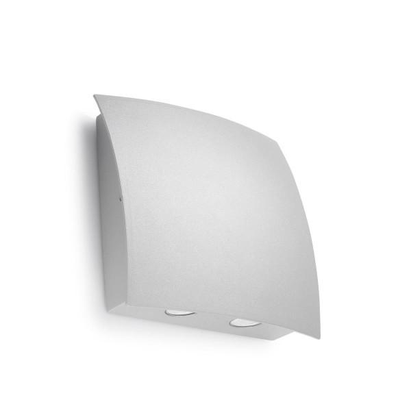 LED Wandleuchte Surf grau