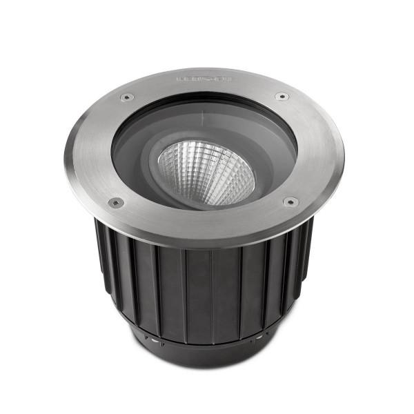 LED Bodeneinbauleuchte Gea Ø 225 mm Edelstahl poliert schwarz
