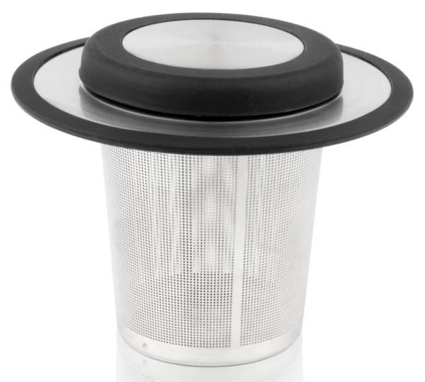 Bredemeijer Teefilter mit Ablage schwarz Edelstahl Silicon - Art.-Nr. 1491