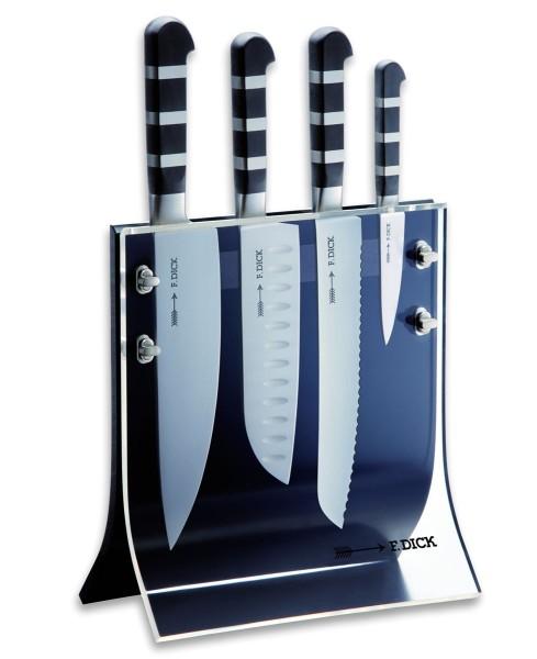 Dick 8197200 1905 Messerblock Acryl 4Knives 4-teilig schwarz