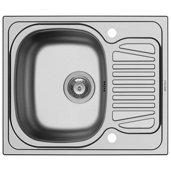 kleine Edelstahl Einbau Küchenspüle 62 cm 1 Becken