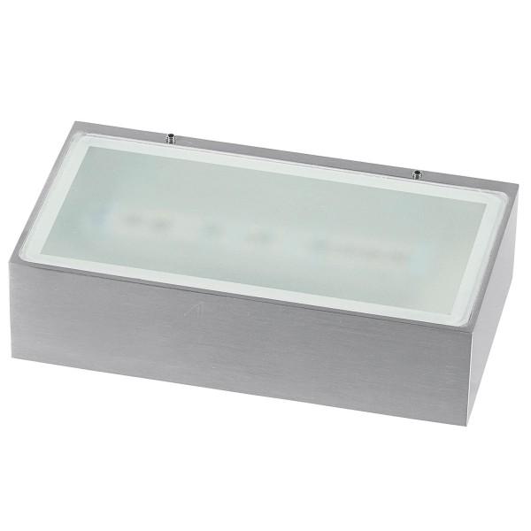 rechteckige weiße dimmbare LED Innen Außen Wandleuchte 18 cm