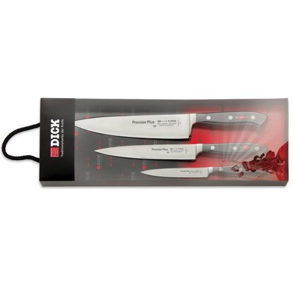 Dick geschmiedetes Messerset zum Kochen 3-teilig
