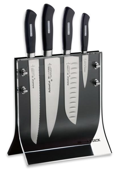 Dick 8907200 ActiveCut Messerblock Acryl 4 Knives 4-teilig