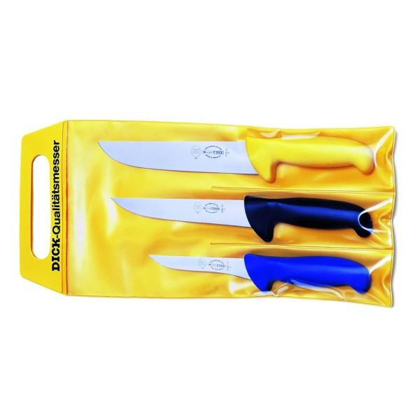 Dick 82570000 Ergo Grip Messerset 3-teilig 3-farbig