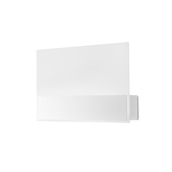 LED Wandleuchte Flat matt weiss