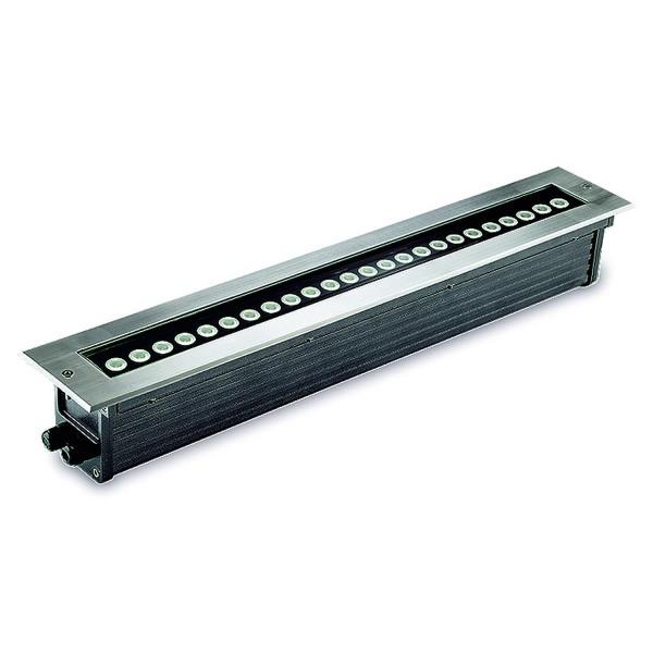 LED Bodeneinbauleuchte Gea Edelstahl poliert schwarz