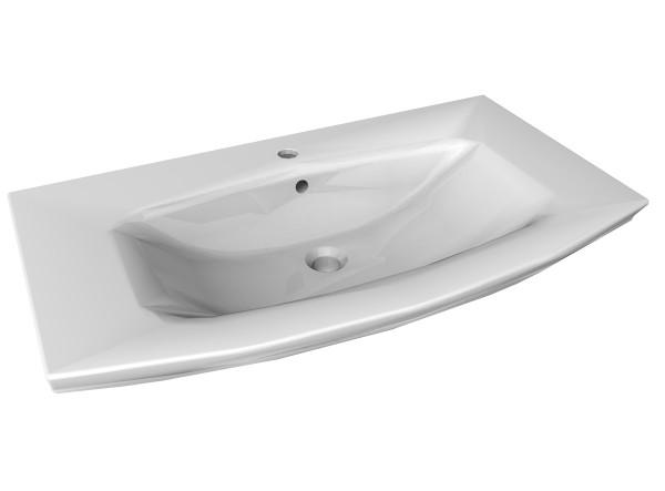 Fackelmann 80100 Waschbecken Keramik weiß 90 cm