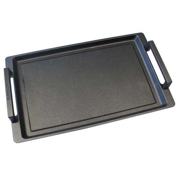 Eurolux Teppanyaki Grill-Platte Induktion 41x24 cm - Teppanyakiplatte mit Griffe