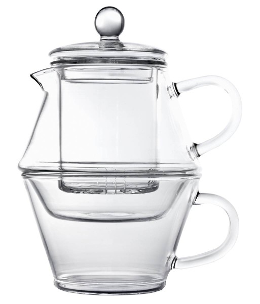 Bredemeijer Teekanne- Tea for On 400/250 ml Portofino Borosilikat Glas einwandig - Art.-Nr. 1467 - Bild 1