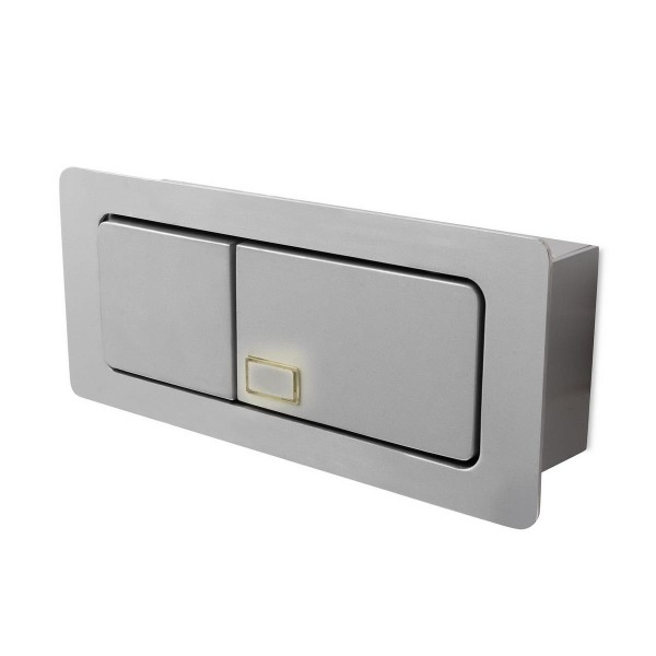 LED Wandeinbauleuchte Estak grau