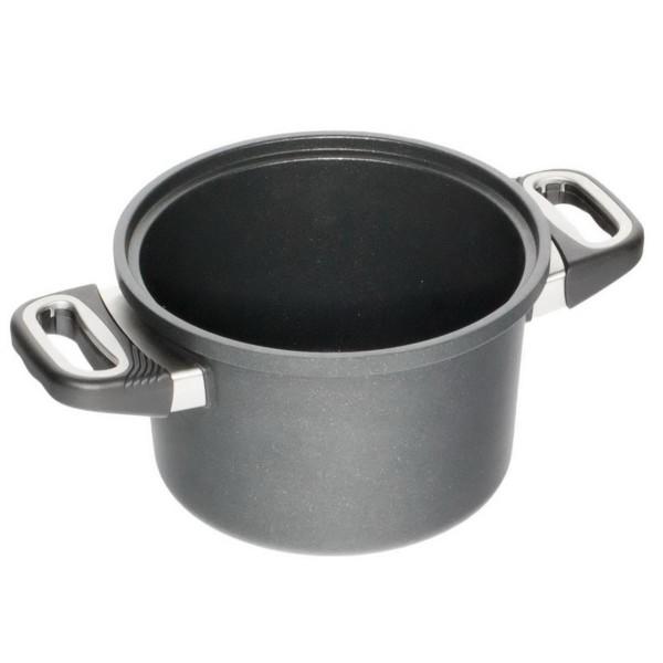 AMT Gastroguss Kochtopf Induktion 24 cm Aluguss Höhe 14 cm für wasserloses kochen - Art.-Nr. I-1424