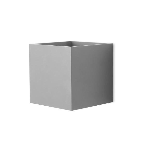 LED Wandleuchte Kub grau