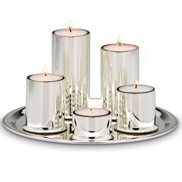H.Bauer jun. Kerzenleuchter Set glänzend - Art.-Nr. 6130ver versilbertes