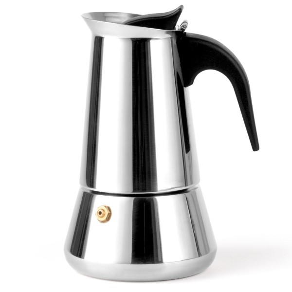 Leopold Vienna silberner induktiver Edelstahl Espressokocher & Edelstahlfilter