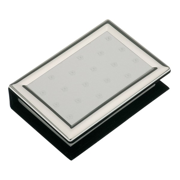 H.Bauer jun. Fotoalbum x 10 cm glatt poliert Höhe 15 cm - Art.-Nr. 3661ver versilbertes gewölbtes
